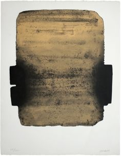 Artwork by Pierre Soulages, Eau-forte Made of Color etching and aquatint Abstract Expressionism, Abstract Art, Modern Art, Contemporary Art, Tachisme, Art Abstrait, Monochrom, Painting & Drawing, Printmaking