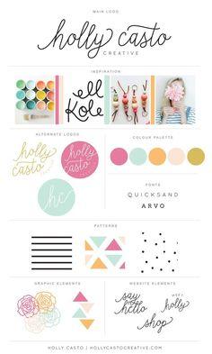 Rebranding | Brand Board | Holly Casto Creative | Pastel Tones