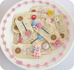 Bowl to display bobby pins at a craft fair.
