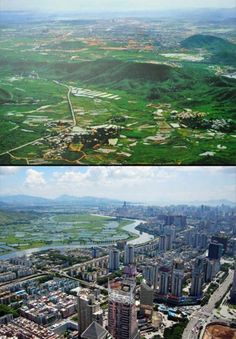 world cities before after