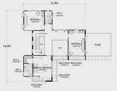 Home design plan with 4 bedrooms. Two-story house Modern Contemporary style Lay out the building layout So that every room can ventilate well. Building Layout, 4 Bedroom House Plans, Pantry Design, Two Story Homes, Architectural Design House Plans, Concept Architecture, Story House, How To Level Ground, Floor Plans