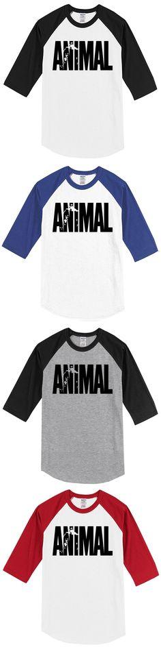 2017 Summer Crossfit Men Animal Iconic T Shirt Bodybuilding Men's T-shirts Harajuku Raglan T-shirt Crew Neck Gyms Musclefitting #menst-shirtsgym