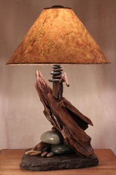 troutrivernaturals - driftwood and slate lamps - ArtFire