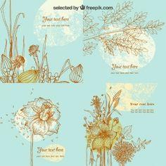 Modelo do cartão floral esboçado