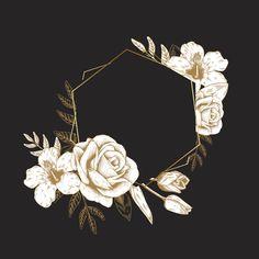 Feminine logo set in black, pink and gold Vector Flower Background Wallpaper, Logo Background, Flower Backgrounds, Wallpaper Backgrounds, Wallpapers, Fond Design, Design Set, Logo Floral, Pink Wallpaper Iphone