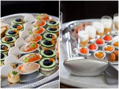 michelin wedding food, canapes