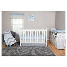 Trend Lab 3pc Crib Bedding Set – Blue Taffy