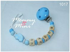 binky clip - pacifier / dummy clip - personalized with name - on Etsy, $65.38