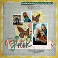 Girl Fort **Main Kit Only** by Davinie at Studio Calico Scrapbook Sketches, Scrapbooking Layouts, Scrapbook Cards, Photo Deco, Paper Supplies, Studio Calico, Layout Inspiration, City Lights, Scrapbooks