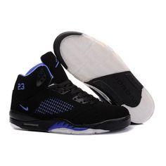 7bd8b8fca4c4bc Air Jordan V 5 Retro Black blue. New Jordans ShoesJordans SneakersAir  JordansAir Jordan Basketball ...