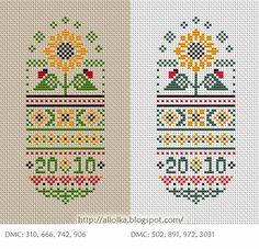 floral ovals free cross stitch chart