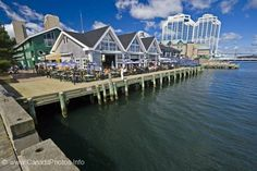 Along the waterfront of the Halifax harbour in Nova Scotia, Canada you will find an assortment of restaurants. Acadie, Canada Pictures, Waterfront Restaurant, Atlantic Canada, Prince Edward Island, New Brunswick, Canada Travel, Nova Scotia, Dream Vacations