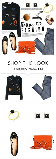 """""""Feline fashion!"""" by blossom-jewels ❤ liked on Polyvore featuring MSGM, Cheap Monday, Kate Spade, Tory Burch, Bobbi Brown Cosmetics, contestentry, catstyle, felinefashion and Blossomjewels"""