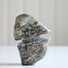 Little Polished Schist Stone Unique Decorative by Sevenstone, $120.00