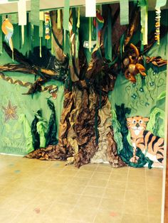 Weird Animals VBS decorations.  This was our jungle floor
