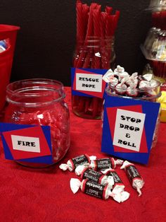 fire fighter baby shower candy