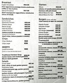Mica Schwarma & Pizza, Mowbray Menu Pita Bread, Slice Of Bread, Restaurants, Sandwiches, Pizza, Menu, Menu Board Design, Restaurant, Paninis