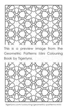 This Pattern Colouring Page Is From The Geometric Patterns Mini Book By Tigerlynx