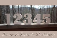 6 DIY Wedding Table Numbers unfinished Wooden by DuanesWorkshop