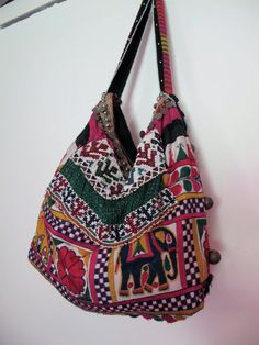 vintage indian fabric beaded bag by shopgypsyriver on Etsy, $180.00