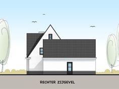 Modern landelijke villa met bijgebouw - rechter zijgevel