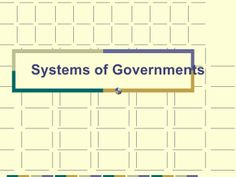 Systems of government powerpoint (unitary, confederation, federal)updated 2010 by North Gwinnett Middle School via slideshare