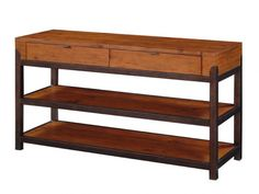 I like this wood and metal console.