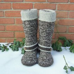 Crochet Boots Custom Made by BeautifulPurpose on Etsy, $135.00
