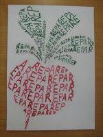 Zelenina tvořená písmem :: M o j e v ý t v a r k a Art For Kids, Education, School, Inspiration, Decor, Kunst, Art For Toddlers, Biblical Inspiration, Art Kids
