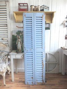 162cm uralter französischer Fensterladen - geniale Patina