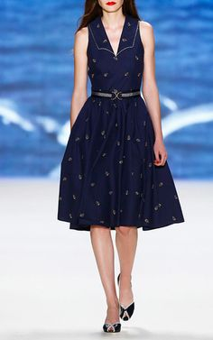 Captain Flared A Line Dress by LENA HOSCHEK for Preorder on Moda Operandi