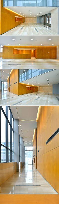 Jinan Vanke Jinyu International SOHO Building by James Wei Ke (Jinan, China, 2014) - Parklex Dry Internal: Golden Ayous Finish