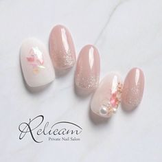 Discover new and inspirational nail art for your short nail designs. Pastel Nails, Pink Nails, Bridal Nails, Wedding Nails, Classy Nails, Cute Nails, Short Nail Designs, Nail Art Designs, May Nails