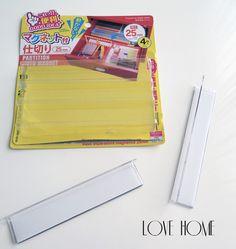 ■【ダイソー】無印の引き出しに貼って仕切る文具の収納、整理、片づけ : love HOME 収納&インテリア