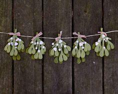 Hey, I found this really awesome Etsy listing at https://www.etsy.com/listing/167781128/mistletoe-holiday-garland-handmade-felt
