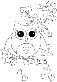 Cute Owl Coloring Pages For Girls