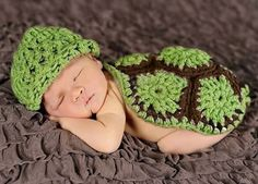 Crochet Knit Baby Photo Props, Crochet Green Turtle Hat, Newborn Knit Photo Props, Crochet Knit Baby Beanie Hat Costume, Baby Shower Gift