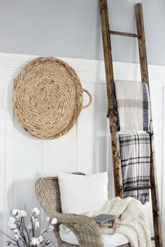 DIY home display ladder instructions - taken from Joanna Gaines' blog!