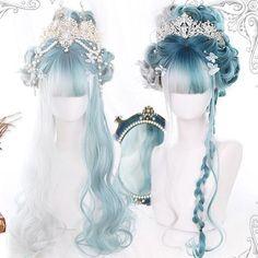 Kawaii Hairstyles, Pretty Hairstyles, Wig Hairstyles, Hot Hair Styles, Wig Styles, Curly Hair Styles, Manga Hair, Anime Hair, Lace Front Wigs