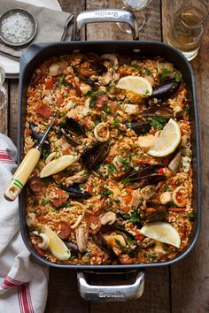 Lemon infused Paella
