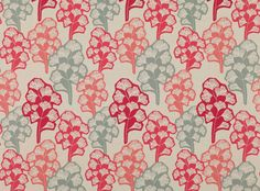 A stylised ginkgo leaf print. Prints and Weaves Upholstery Fabrics, Prints, Drapes & Wallcoverings