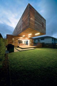 Timber rainscreen architecture.com.au - Trojan House by Jackson Clements Burrows