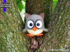 Owl amigurumi keychain by Caiperina on Etsy ♡