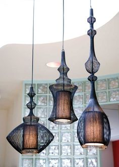 Pendant lights for the kitchen island.