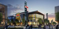 Cityline Sunnyvale Secures AMC Theaters Multiplex - The Registry Retail Architecture, Annual Pass, Mixed Use, Modern Buildings, Shopping Center, Under Construction, Northern California, Willis Tower, Townhouse