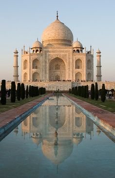 Taj Mahal, India. I want to go see this place one day. Please check out my website thanks. www.photopix.co.nz