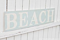 Weathered Beach Sign Tutorial with Letters as Stencils.