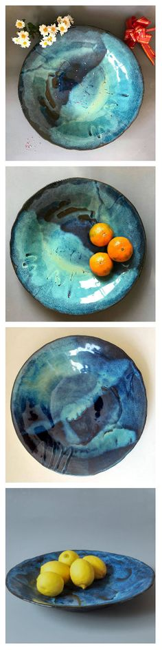 Ceramic large serving bowls are perfect gift for foodie. #ceramicbowl #giftforfoodie #servingbowl