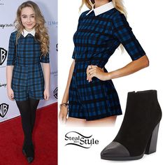 Sabrina Carpenter: Plaid Collared Romper