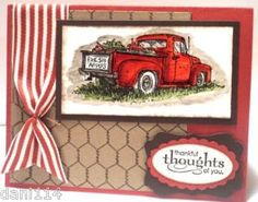 Just got this stamp set and i have the chicken wire background stamp!
